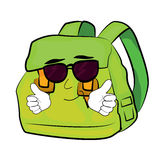 Cool school bag cartoon Stock Image