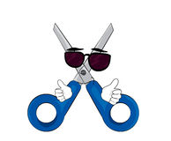 Cool scissors cartoon Stock Photography
