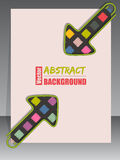 Cool scrapbook cover with 2 arrow binder clips Stock Images