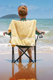 Cool seat. Relax and cool the heels Royalty Free Stock Images