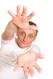 Cool senior with hands royalty free stock photos