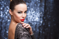 Cool sensual party girl. Royalty Free Stock Photo