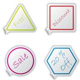 Cool set of stickers Royalty Free Stock Image