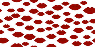Cool Sexy Seamless Lips. Kiss isolated on white background. Vector illustration Royalty Free Stock Images