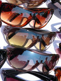 Cool Shades. In different colors for sale in a fashion shop stock photos