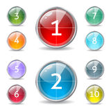 Cool shiny buttons with countdown Stock Photo