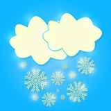 Cool Shiny Clouds with Falling Snow Stock Photography