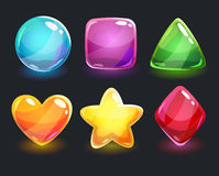Cool shiny glossy colorful shapes Stock Photography