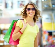 Cool shopaholic Stock Photo