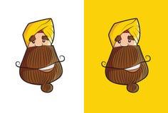 Cool Sikh Sardar Face with long beard. Stock Images