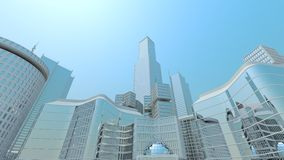 Cool and simple cityscape wallpaper Royalty Free Stock Photos