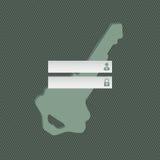 Cool simple login screen design Stock Photo