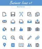 Business Icons v1 (Blue Series) Stock Images
