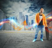 Cool skateboarder Royalty Free Stock Photography