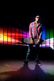 Cool Skateboarder Guy Royalty Free Stock Photography