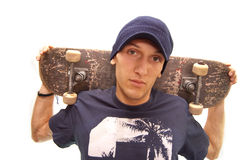Cool skater. Portrait of an cool skater with his board Stock Photography