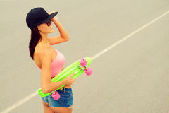 Cool skater girl. Royalty Free Stock Photos
