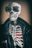 Cool Skeleton Smoker Stock Photography
