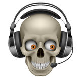Cool Skull with headphones Stock Image