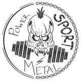 Cool skull logo Stock Photos