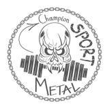 Cool skull logo Royalty Free Stock Photos