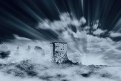 Cool sky and castle Stock Images