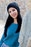 Cool smiling girl with wool cap Royalty Free Stock Photo