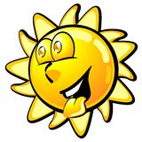 Cool smiling summer sun Royalty Free Stock Image