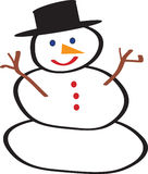 Cool snow man. Vector Snowman done in Adobe Illustrator Royalty Free Illustration