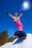 Cool snowboard woman Stock Photography