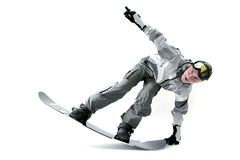 Cool snowboarder Royalty Free Stock Images