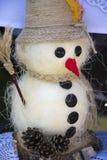 Cool snowman Christmas Stock Photography