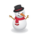 Cool Snowman Wearing Black Hat Stock Photos