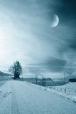 Cool snowy landscape Royalty Free Stock Photography
