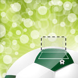 Cool soccer background design Royalty Free Stock Image