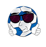 Cool soccer ball cartoon Royalty Free Stock Image
