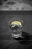 Cool Soda, Water, Tonic or Votka with Lemon and Ice Royalty Free Stock Photo