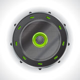 Cool speaker design with green leds Royalty Free Stock Photography
