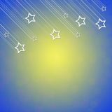 Cool star on blue and yellow color background Royalty Free Stock Photo