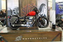 Cool Star motorcycle on display Royalty Free Stock Image
