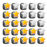 Cool star rating Royalty Free Stock Photos