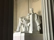 The Lincoln memorial which is i Washington DC. The most famous sculpture in the city. This is cool statue in this city Royalty Free Stock Photography