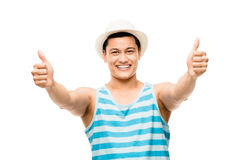 Cool student showing thumbs up Stock Images