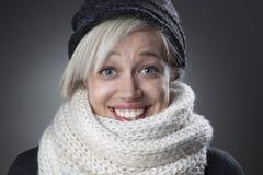 Cool stylish winter woman portrait Stock Images