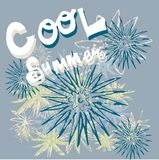 Cool summer. Expressed the theme of the summer cool water wave graphics stock illustration