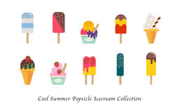 A Cool summer popsicle icecream sweet colorful dessert collection Royalty Free Stock Photography