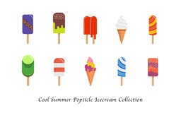 A Cool summer popsicle icecream sweet colorful dessert collection Stock Image