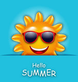 Cool Summer Sun in Sunglasses, Beautiful Card. Illustration Cool Summer Sun in Sunglasses, Beautiful Card - Vector Royalty Free Stock Image