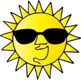 Cool Sun. Sunglass wearing cool sun  illustration Royalty Free Stock Photography
