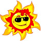 Cool sun. Cartoon image of a funny sun (sunglasses included). High resolution image, perfect for t-shirt designs, banners, web or printings. Also available as royalty free illustration